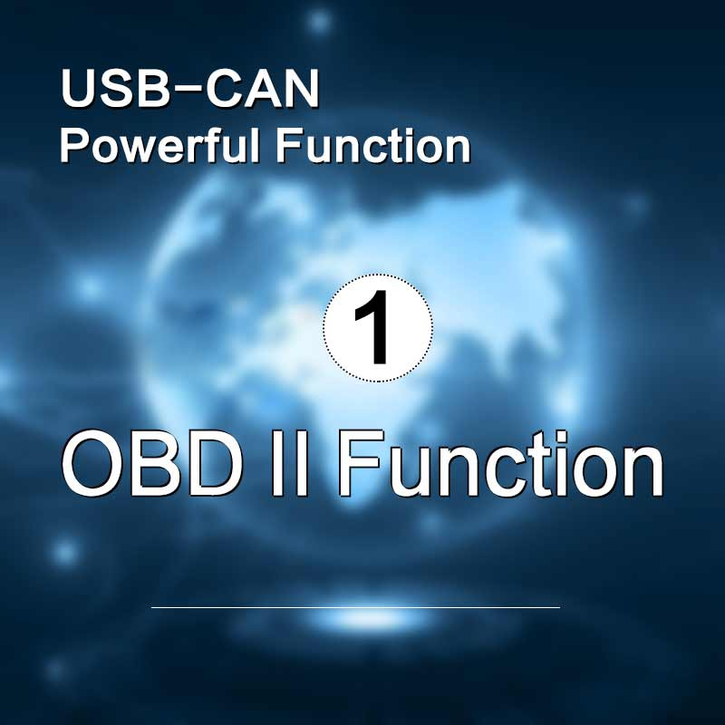 OBD II function of GCAN USBCAN