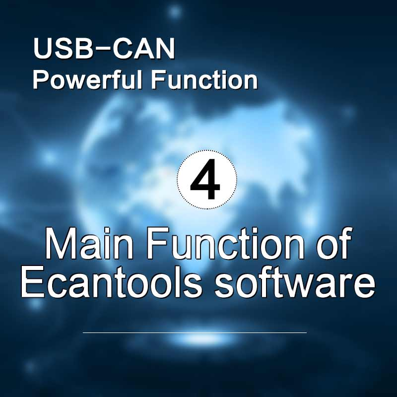 Main Function of Ecantools software