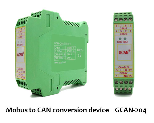 How to choose the type of CAN to Modbus device