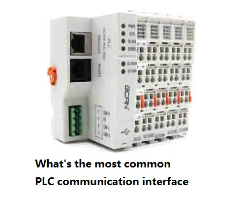 What's the most common plc communication interface?