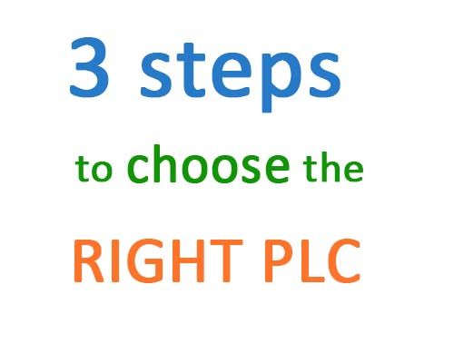3 steps to choose the right PLC