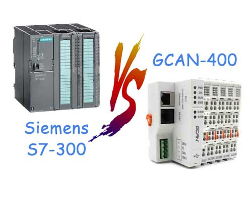The Comparison with Siemens S7-300 and GCAN-PLC
