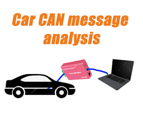 Car CAN message analysis application example display